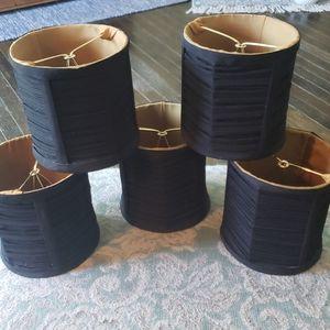 5 black silk chandelier shades